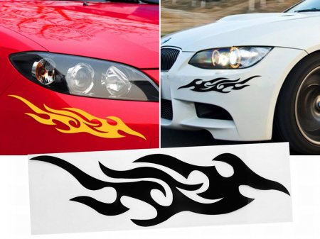 2pcs of decorative 3d stickers of flames free shipping