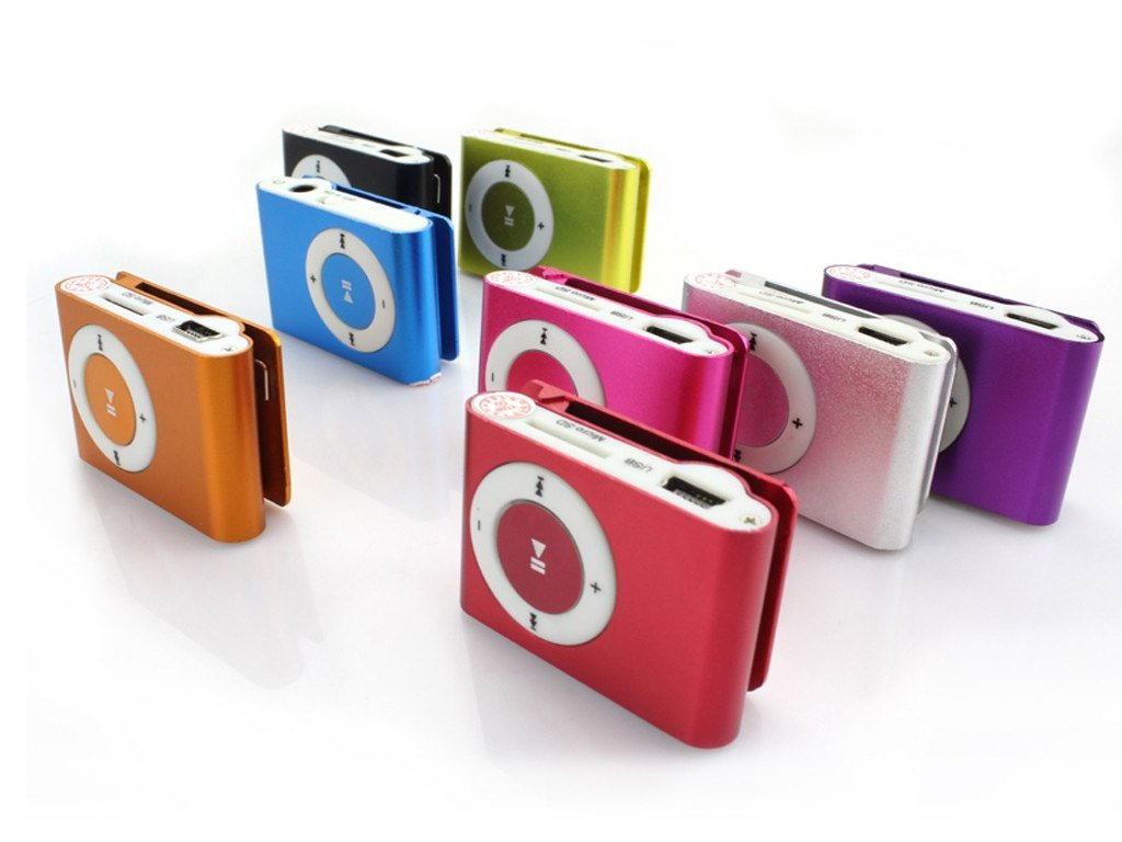 Mini MP3 Player With a Clip, Available in 8 Colours  FREE Shipping