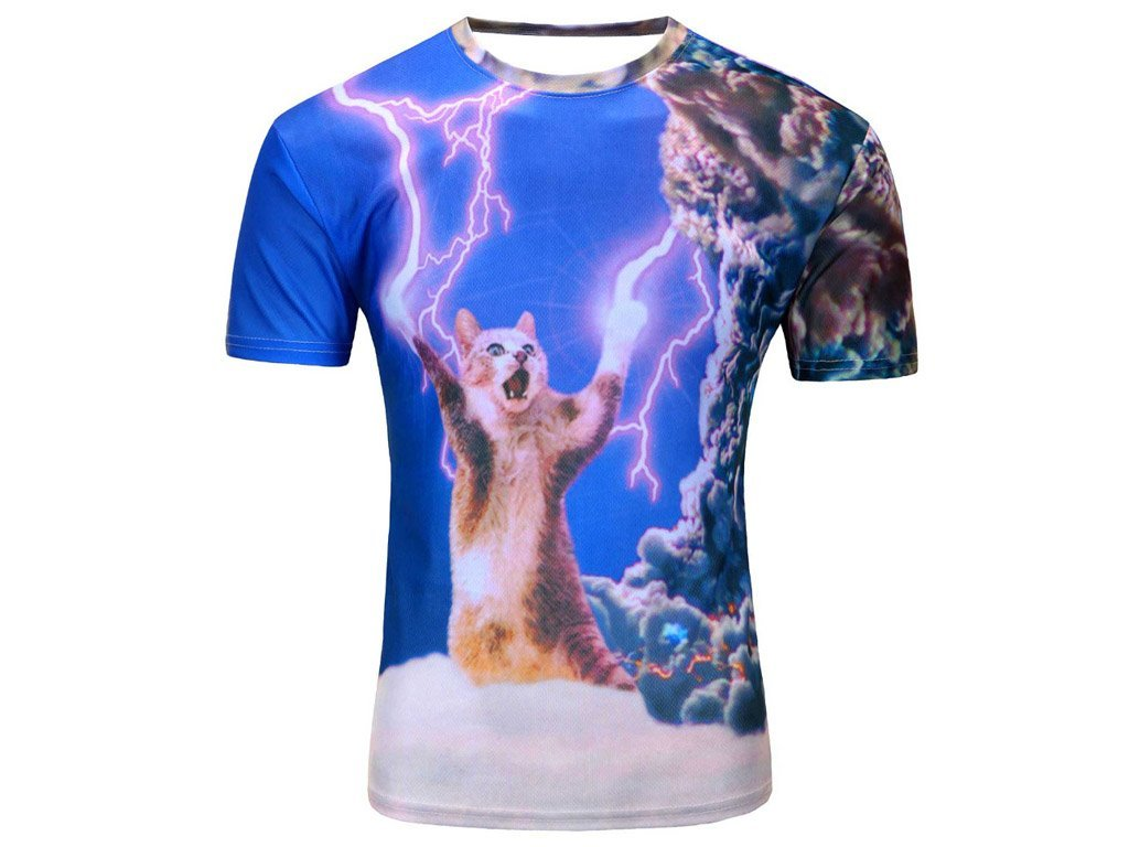 T-shirt Lightning Kitten. FREE SHIPPING! | Consignmenter.co.uk